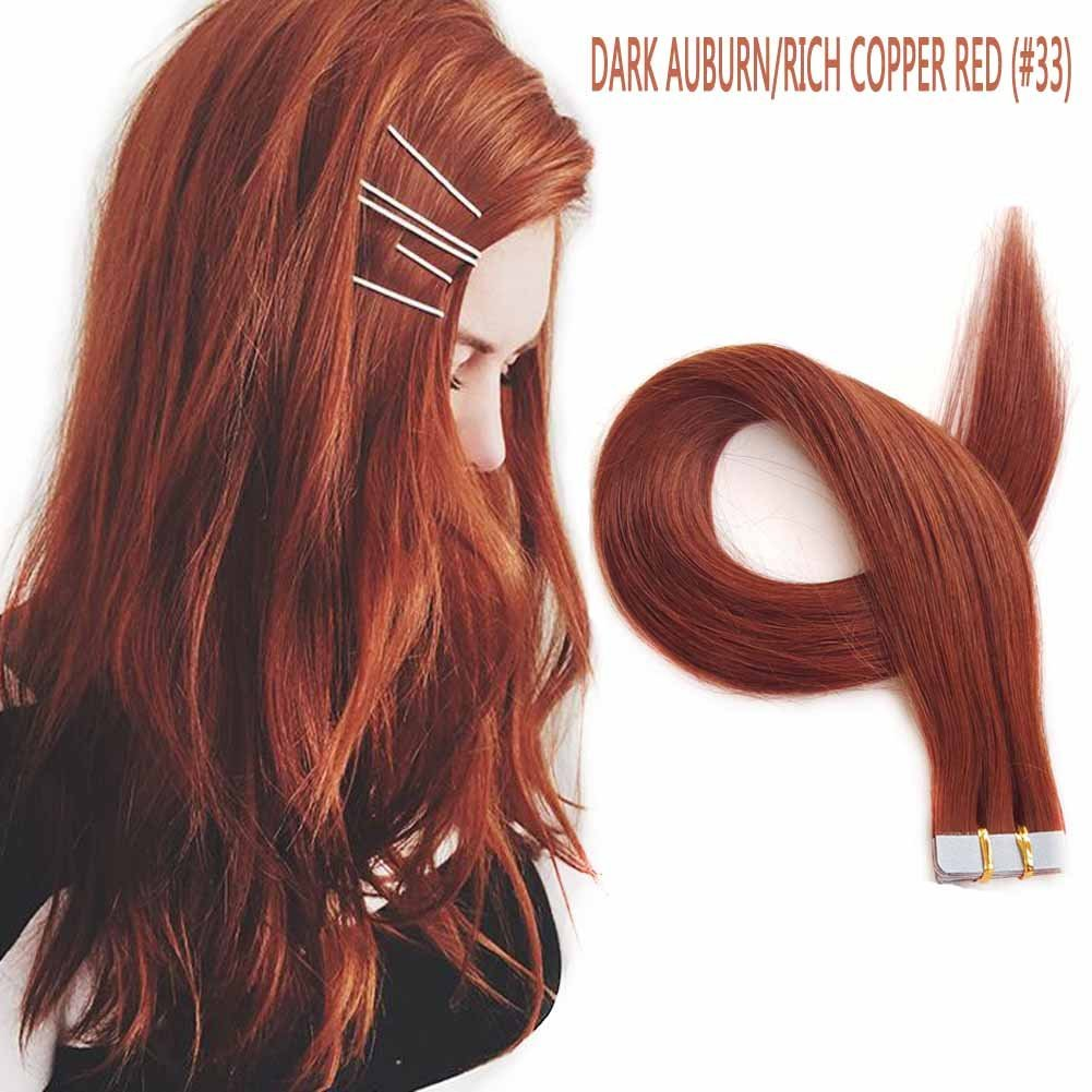 Buy Showjarlly Skin Weft Hair Extensions 20pcsset 33 True Copper
