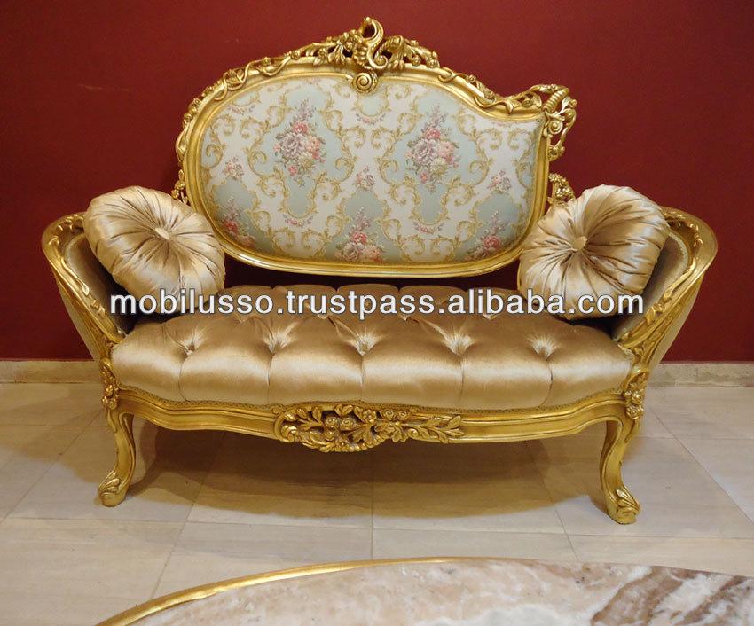 French Armchair Baroque Chair Livingroom Furniture Fine Workmanship Sofas/chaises