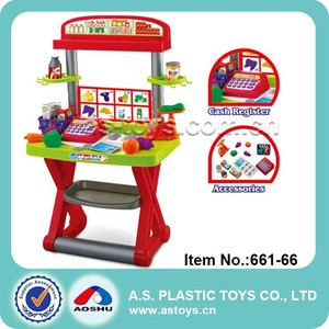 Play At Home multifunctional supermarket children pretend market stall play set