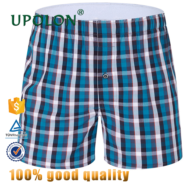 Upolon Cheapest Cotton Boxer Shorts 100%Cotton Fancy Boxer Mans Underwear