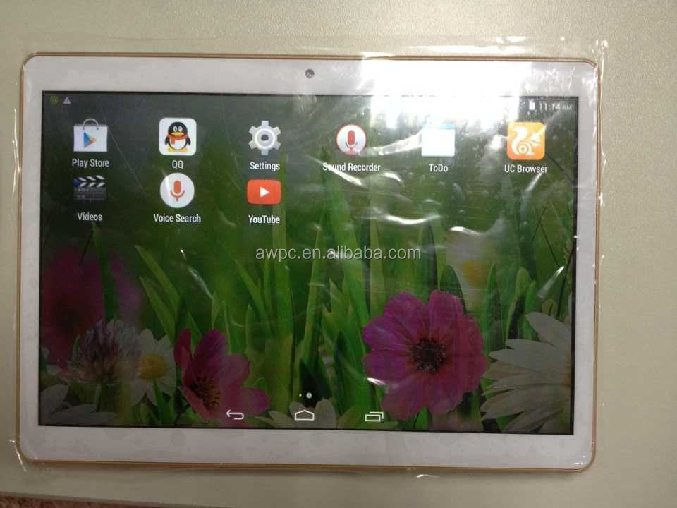 mtk6582 quad core tablet pc with ips screen 3g gsm phone calling function
