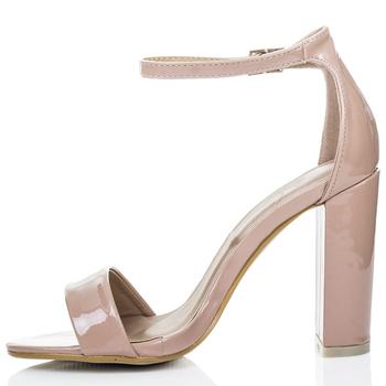 5678cf94157 Alibaba Shoes Chunky Heel Nude Patent Medium Heels Sandals - Buy Heels  Sandals,Sexy High Heel Sandals,Medium Heel Ladies Sandals Product on ...