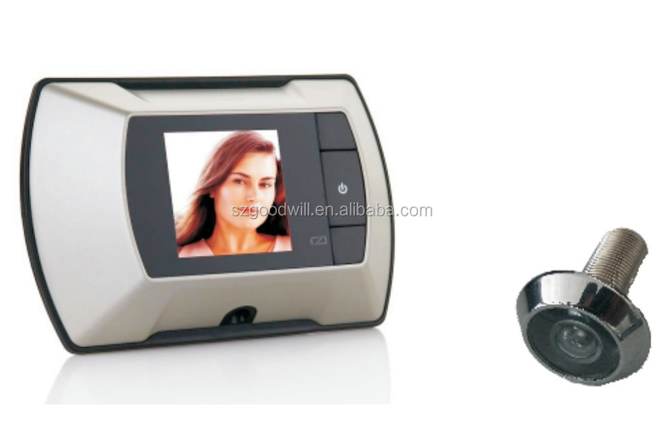 2014 New Factory 2.4 inch wide large angle Digital Door Peephole with Monitor