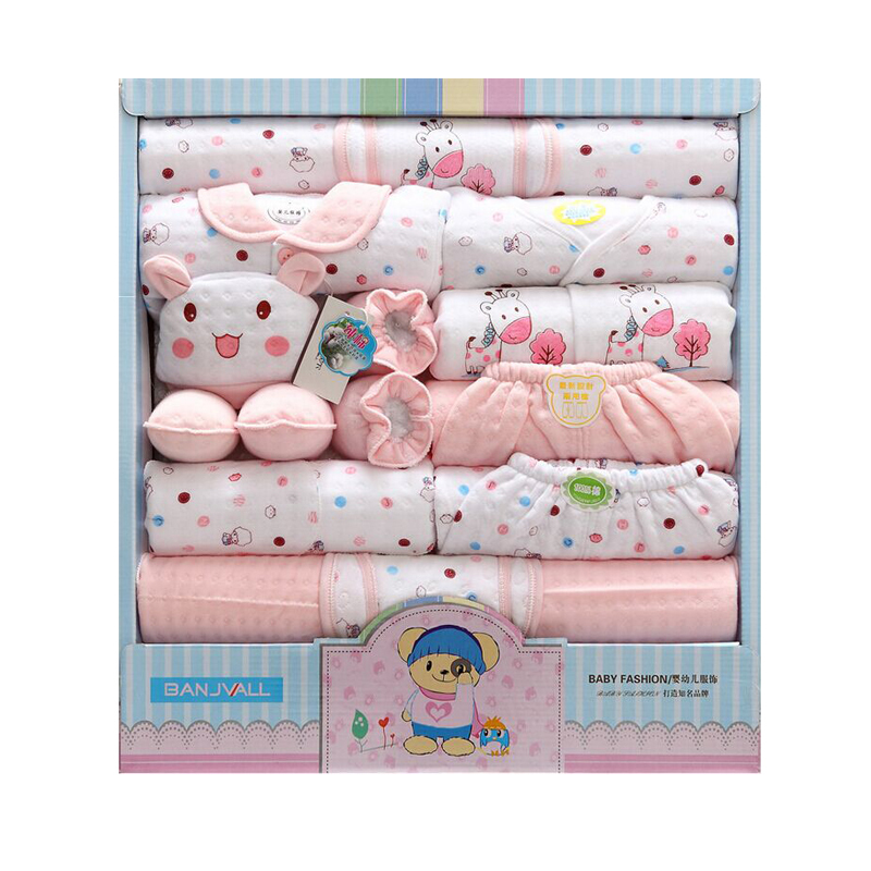 (18 pcs/set)Newborn Baby 0-3M Clothing Set cartoon cotton underwear babys clothing 0 3 months girl infant thermal underwear