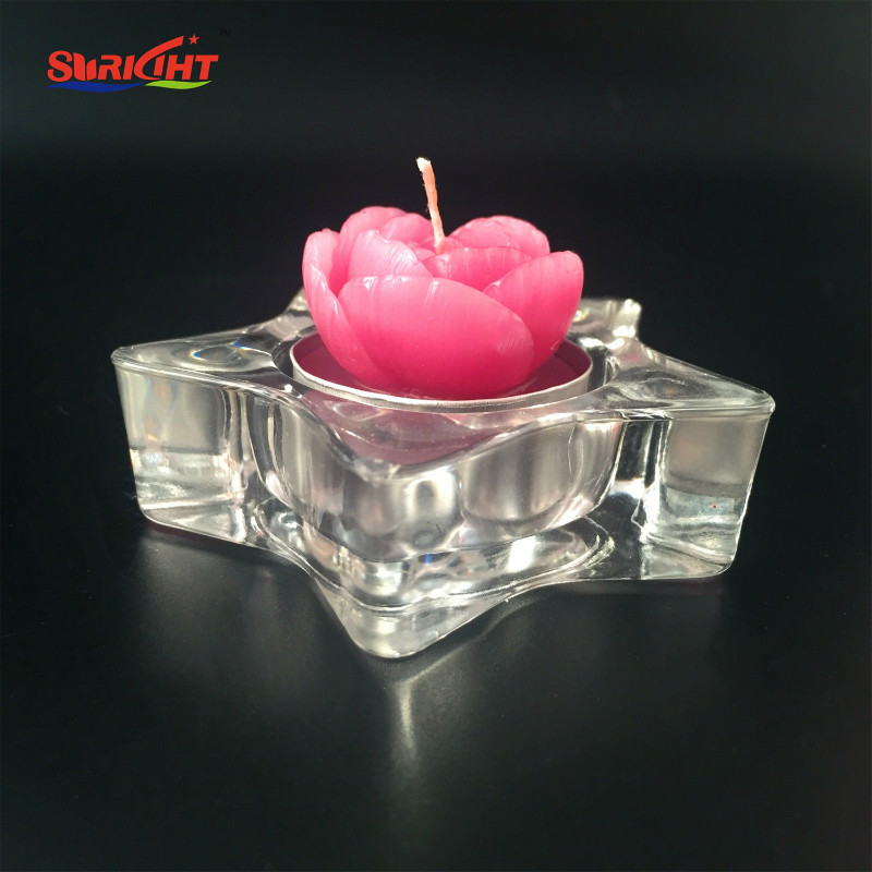 Flower Petal Shaped Scented Tealight Candles  3pcs Gift Box Set for decoration