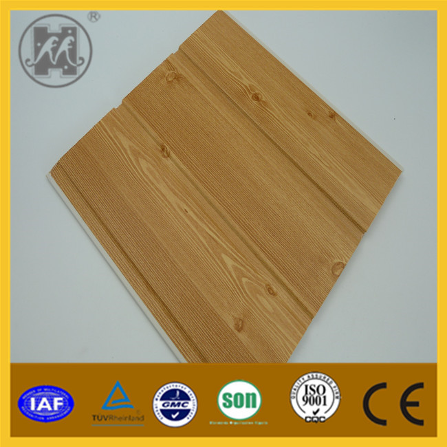 2015 Interior fake wooden hot stamping PVC wall panel PVC ceiling