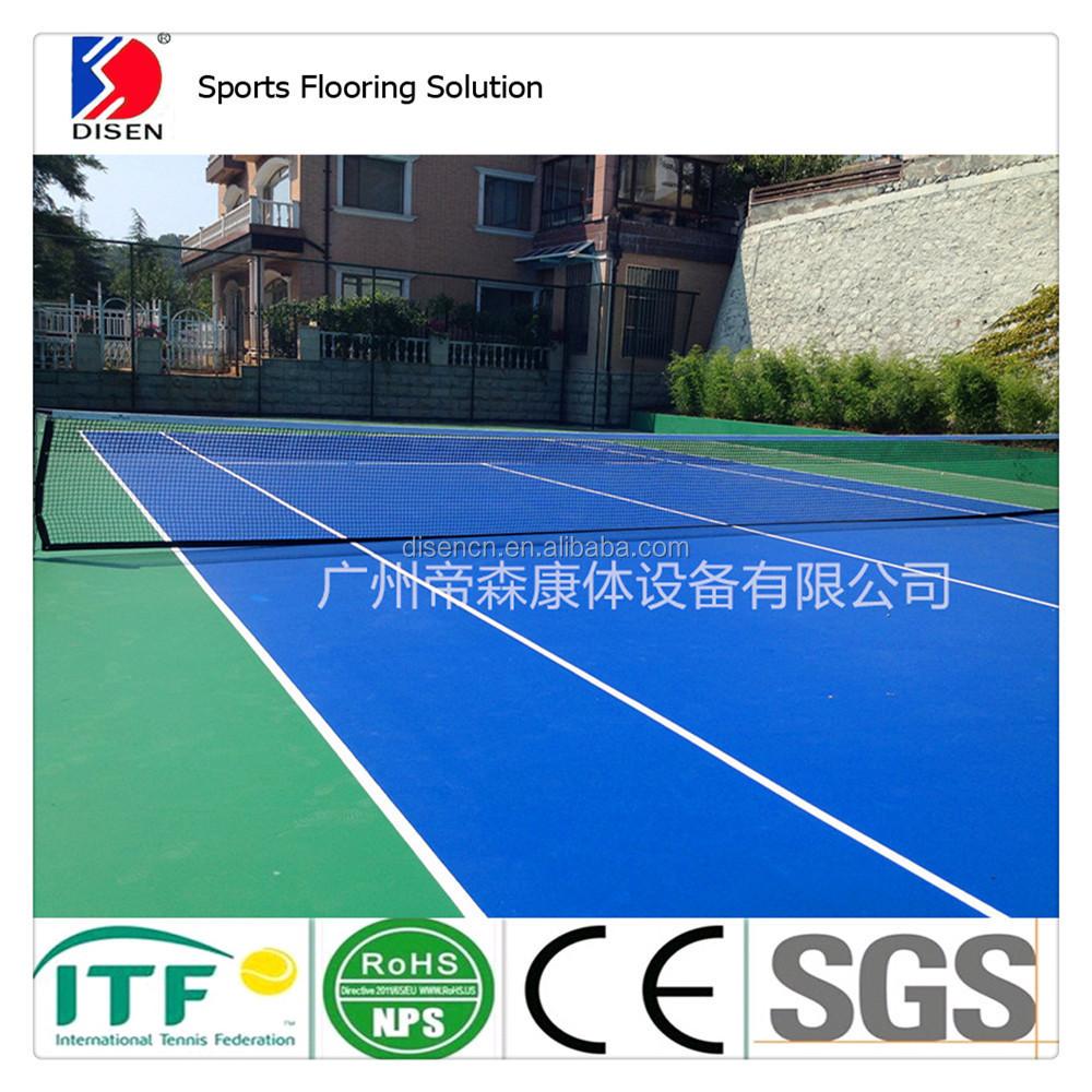 En plein air itf approuv de tennis plancher terrain de for Prix terrain de tennis