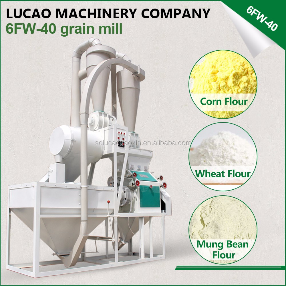 Suit for your business small home plantain corn grain rice wheat flour making machine