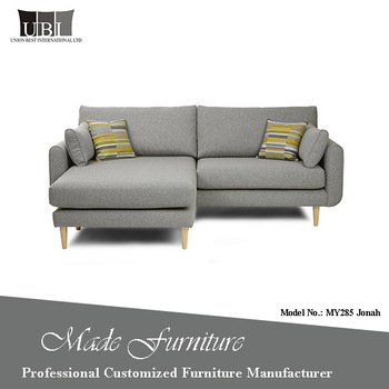 Comfort Compact Size Modern Lifestyle L Shape Corner Sofa With