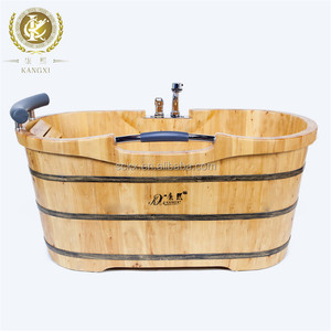 wooden bathtub with seat wooden massage tub for fat people handmade product
