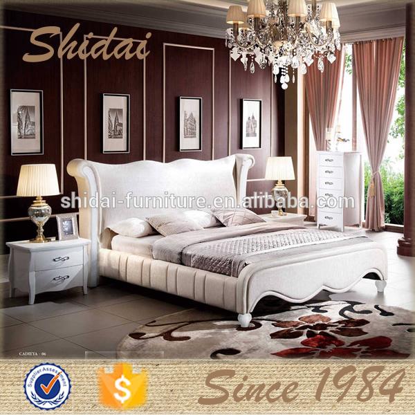 Queen size tamaño, cama king size, madera moderna cama B9025-Camas ...
