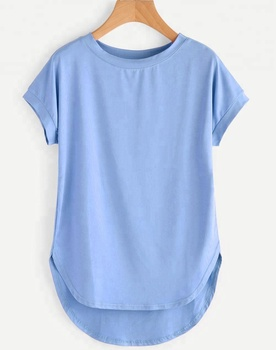 popular style beauty famous designer brand Wholesale High Low Curved Hem T Shirts Best Price For Women Casual Wear -  Buy High Low Curved Hem T Shirt,Wholesale High Quality Curved Hem ...
