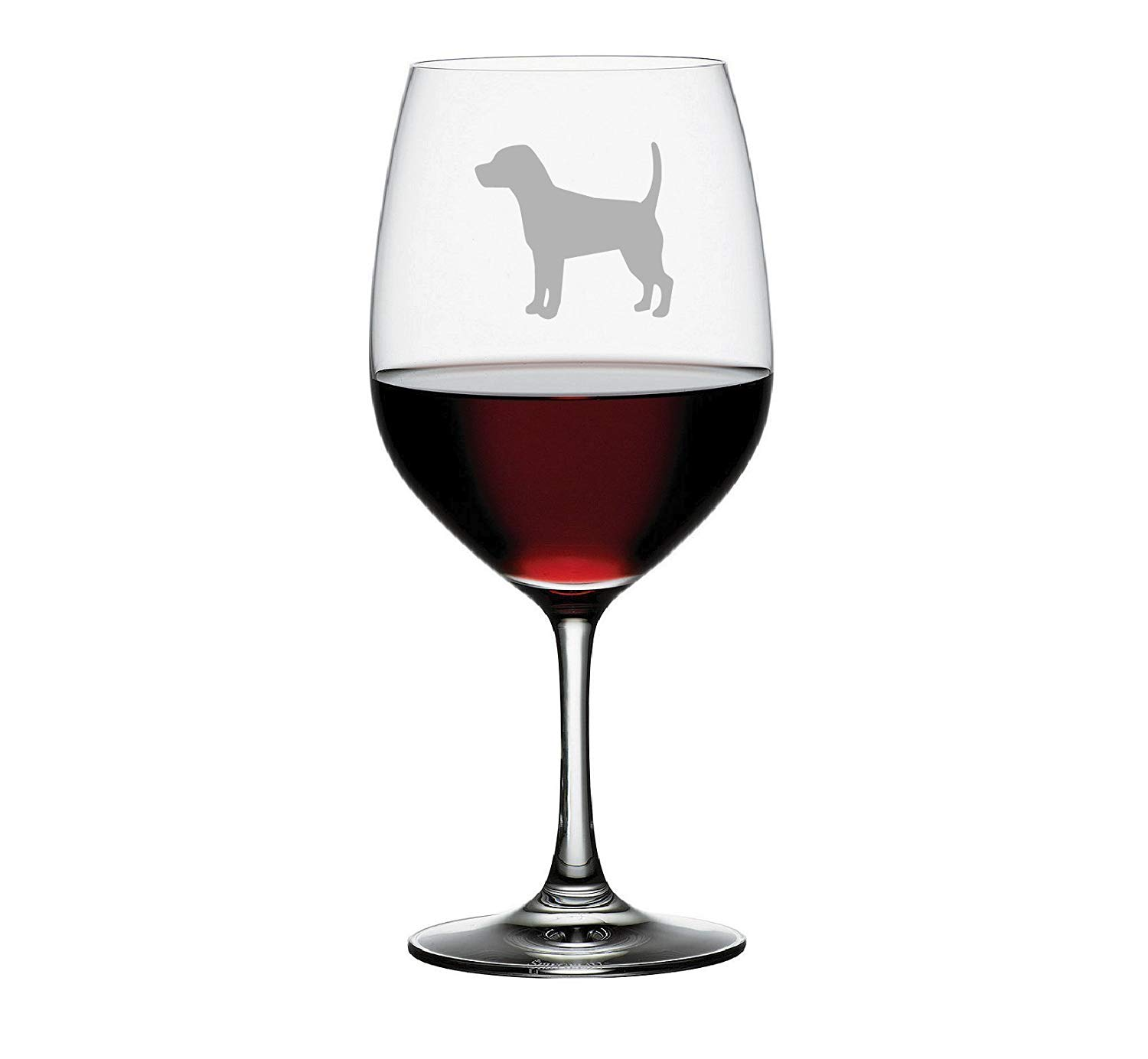 Beagle Etched Stemless Wine glass, Pint Glass, Stemmed wine Glass, Rocks glass, Pilsner or Nonic Pint glass