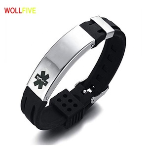 Good Quality Personalized Stainless Steel Silicone ID Bracelet Custom  Engraved Medical Alert ID Bracelet Drop Shipping