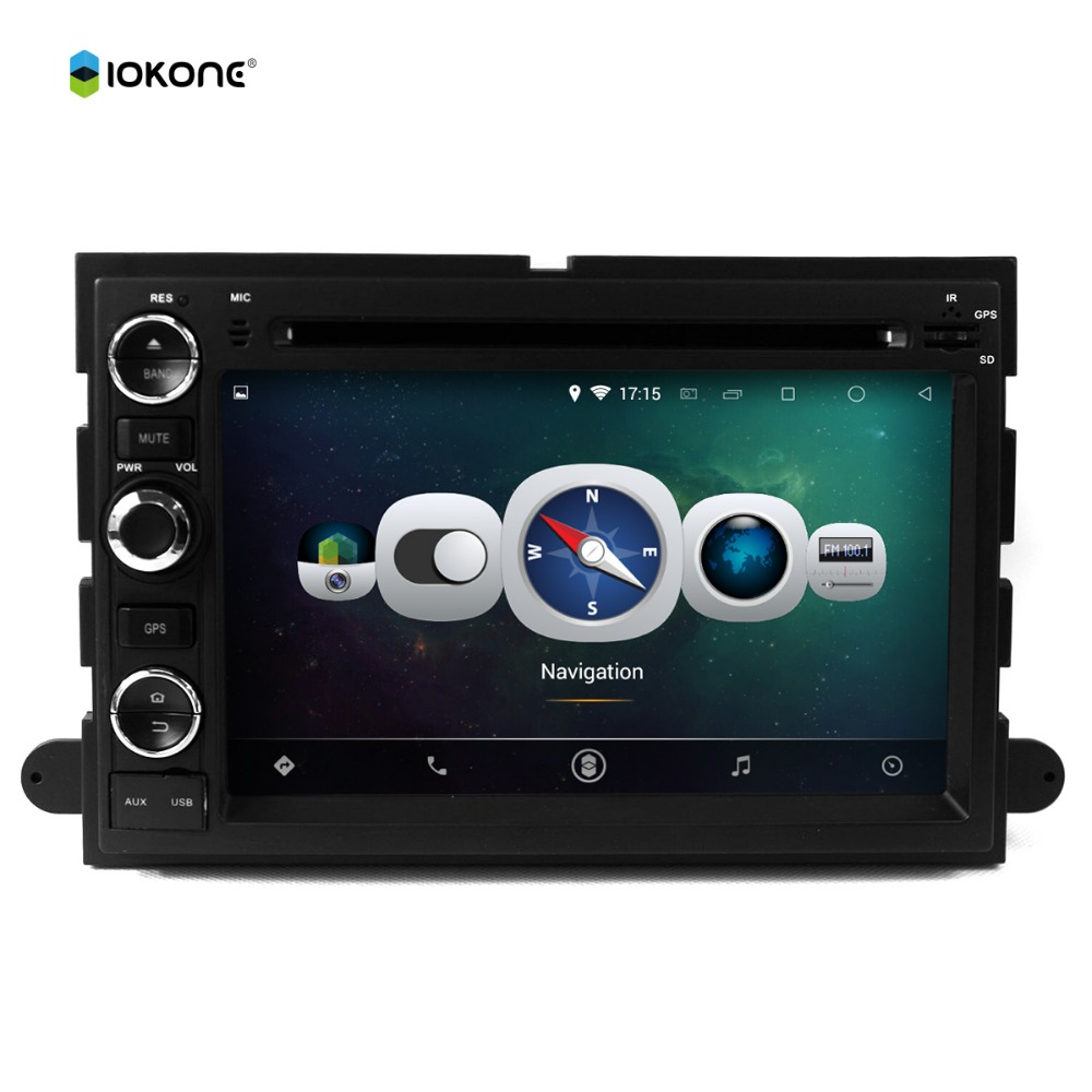 Android 4.4 quad-core 16G flash touch screen car dvd player for Ford FOCUS F150 2006-2009