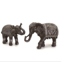 Resin Crafts Creative Simulation Thai Resin Mother and Child Elephant Feng Shui Home Decoration Decoration