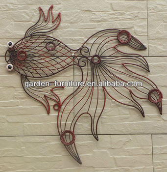 Decorative Fish Iron Wire Wall Art Part 85