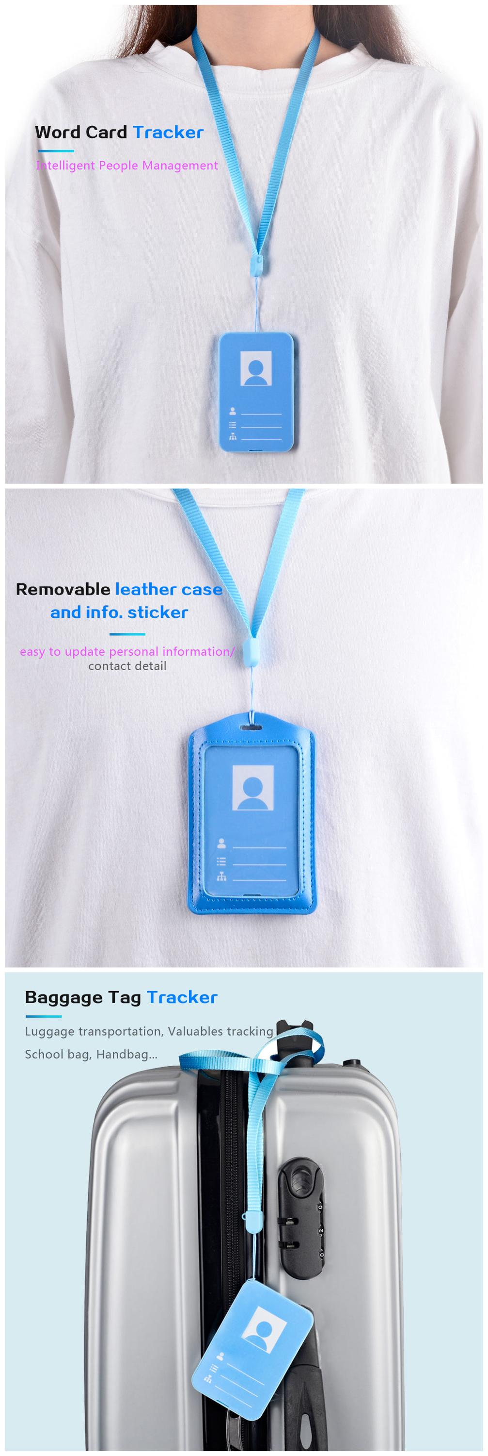 Person Safety Student Card Hidden GPS Tracker 1500mhA ID Card GPS Tracker