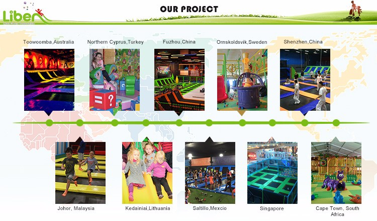 LiBen Hot Sale Indoor Large Trampoline Parks with Basketball Hoop and Ninja course,indoor play park