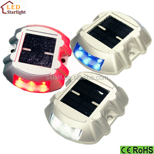 Solar LED Road Studs Solar Raised Pavement Markers solar reflective lane warning devices