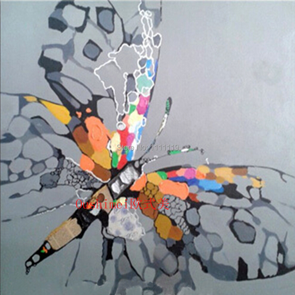 Papillon photos peint à la main Wall Art peinture couteau