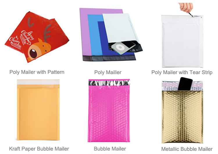 सफेद कस्टम प्लास्टिक पाली मेलर कूरियर मेलिंग बैग