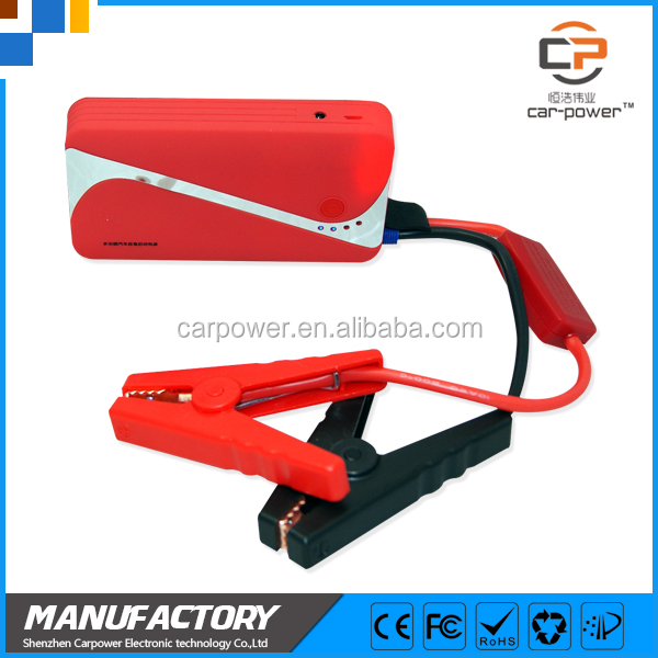 2016 hot car safety jump starter 9000mAh power bank emergency tool