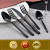 Wholesale black mirror polished cutlery, shinny black cutlery set for wedding