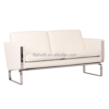 Living Room Furniture Metal Frame Leather 2 Seats TV Recliner Chair