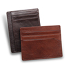 Custom logo Italian leather slim credit card holder RFID men leather card holder