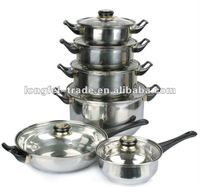 12pcs stainless steel casserole set with bakelite handle