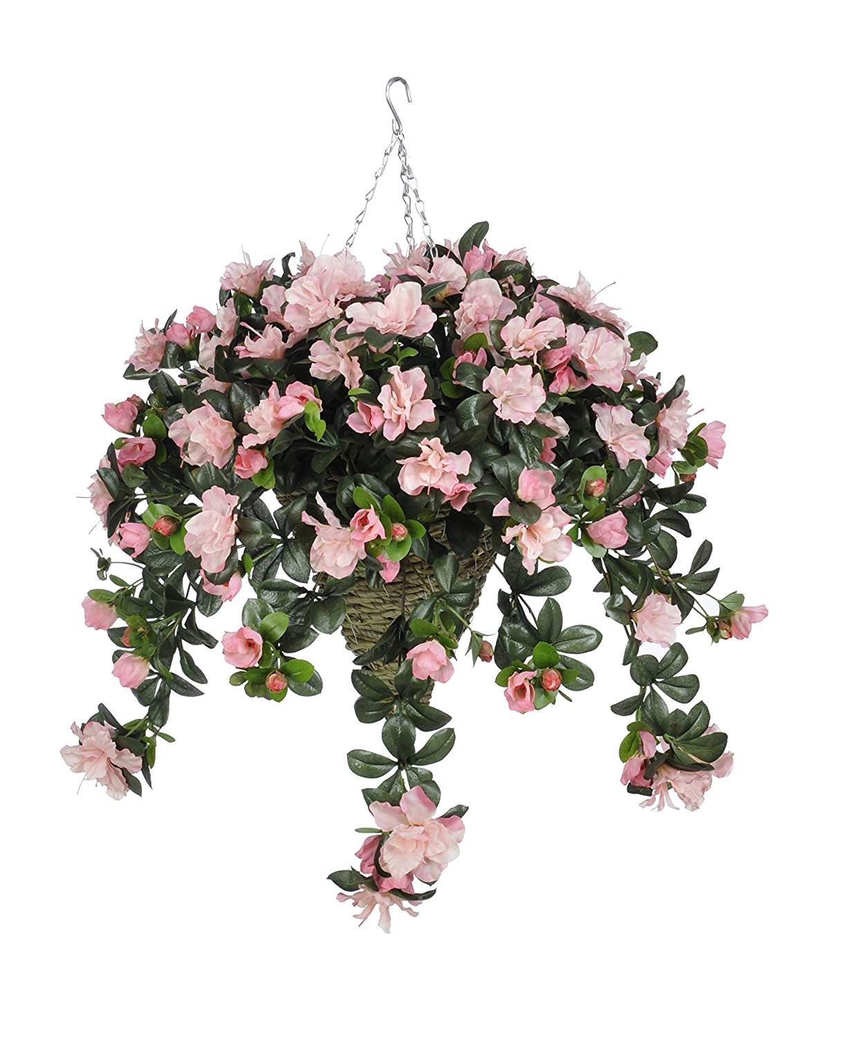 Buy house of silk flowers artificial pink azalea in beehive hanging house of silk flowers artificial pink azalea in beehive hanging basket mightylinksfo