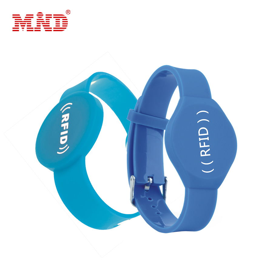 Access Control Waterproof Smart 13.56mhz NFC RFID Silicon Wristband for Events