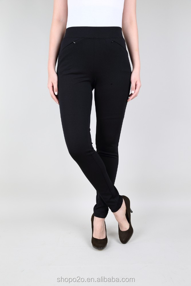 Hot Item Zip Pockets Ladies Black Casual Trousers
