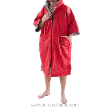 2017 Waterproof Surf Poncho Dry Change Robe With 100% Cotton Warm Towel  lining For Adult 2ad07acf3