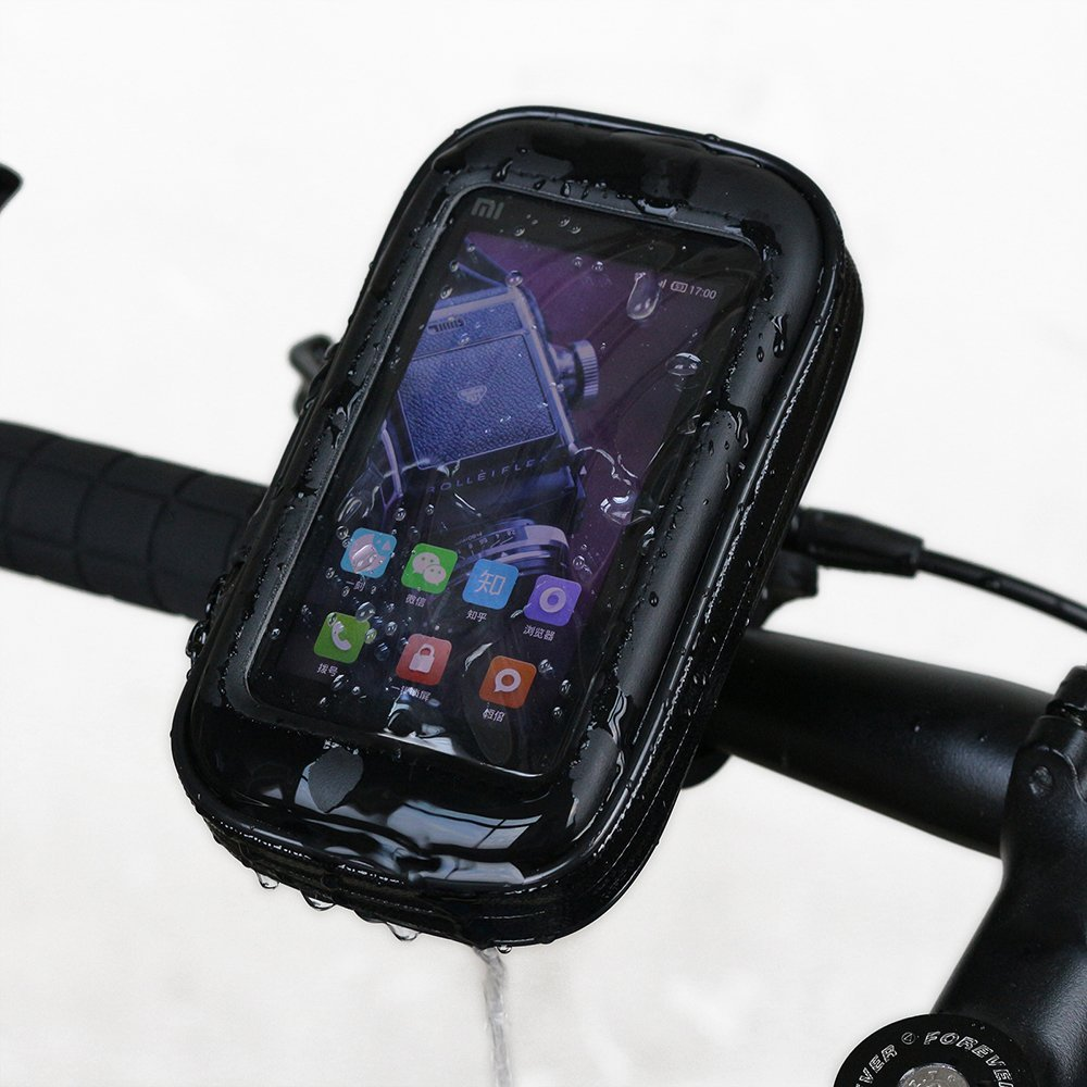NEVERLAND 4.4 Inch Motorcycle Bike Bicycle Handlebar Holder Mount Waterproof Bag Case for Phone GPS S