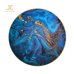 JC ceramic competition bumper plate thali charger plates for restaurant