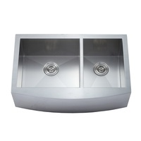 Handmade double bowl 304 stainless steel custom size kitchen sink