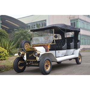 Brushless AC Motor 8 passenger electric vintage golf cart classic car