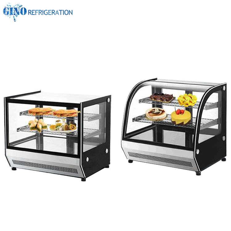 square glass counter top cake showcase mini cake cooler display 660mm counter top display chiller