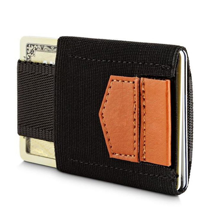 slim leather elastic strap magic wallets for men with card holder women and mens leather wallet