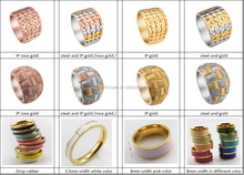Crazy sell Indonesia gemstone titanium ring for wholesale