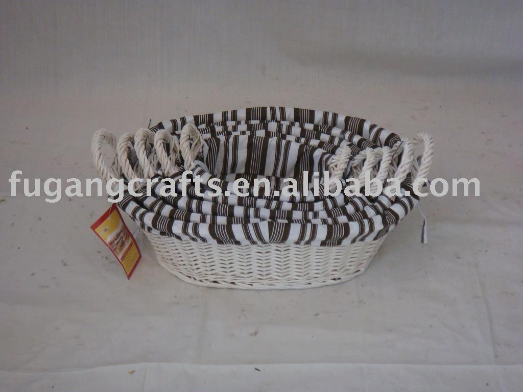 White wicker baskets with handle - White Willow Baskets With Handles White Willow Baskets With Handles Suppliers And Manufacturers At Alibaba Com