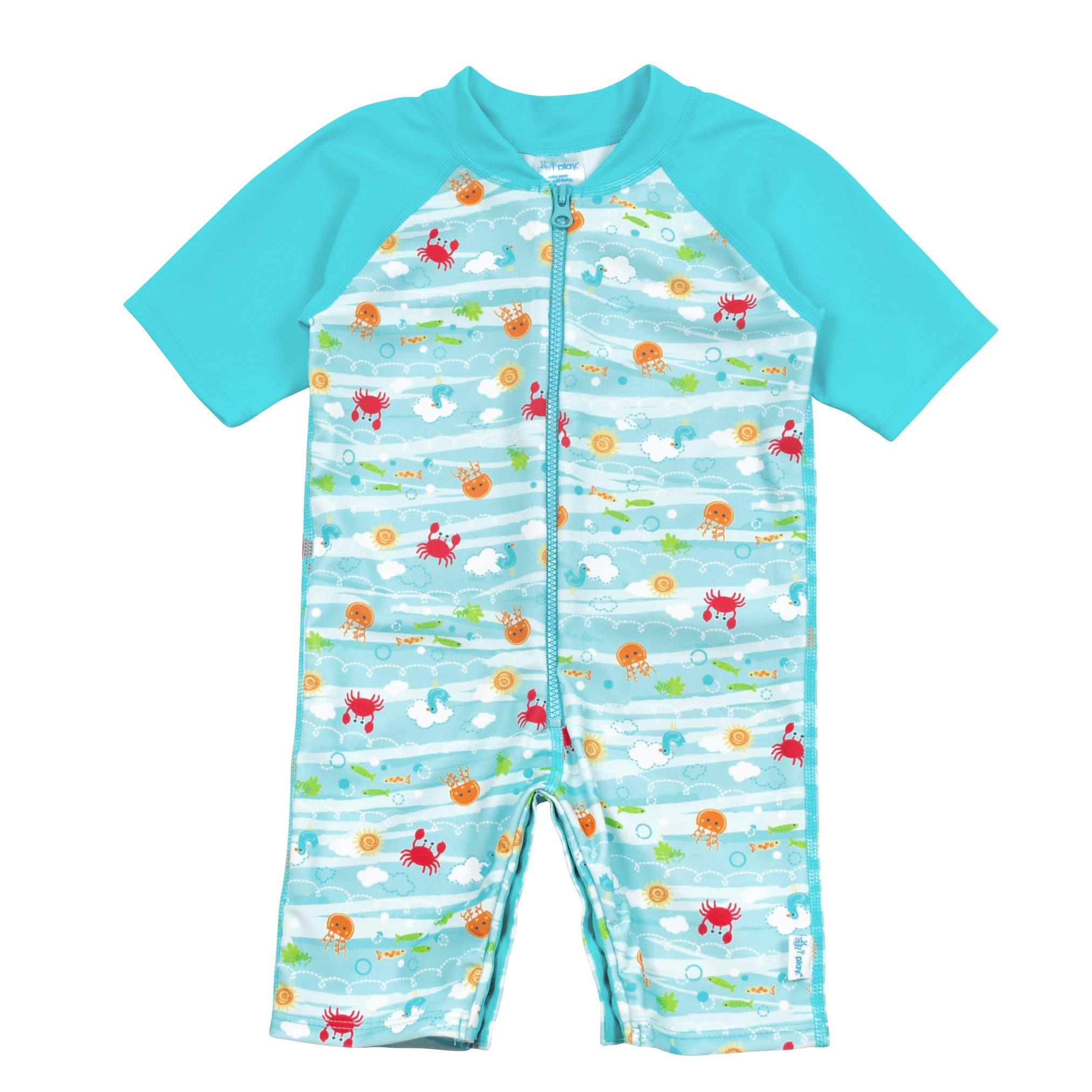 deaba57051e9 Get Quotations · i Play. Baby Girls One-Piece Swim Sunsuit