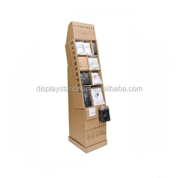 Portable custom design cardboard display stand