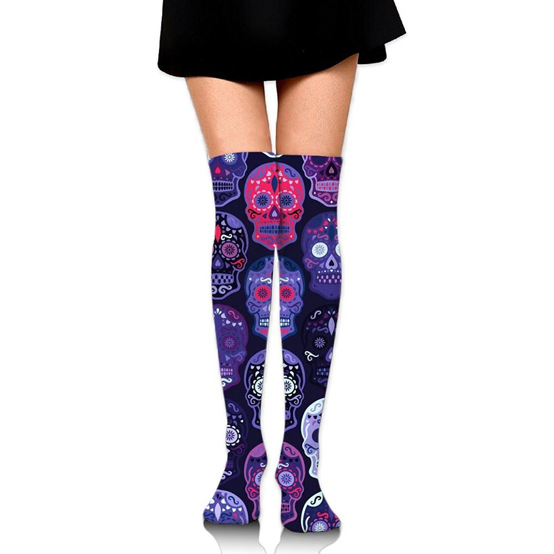 Zaqxsw Skull Terror Women Vintage Thigh High Socks Long Socks For Ladies