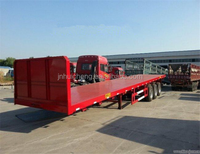 40ft flatbed trailer for container with container twistlock