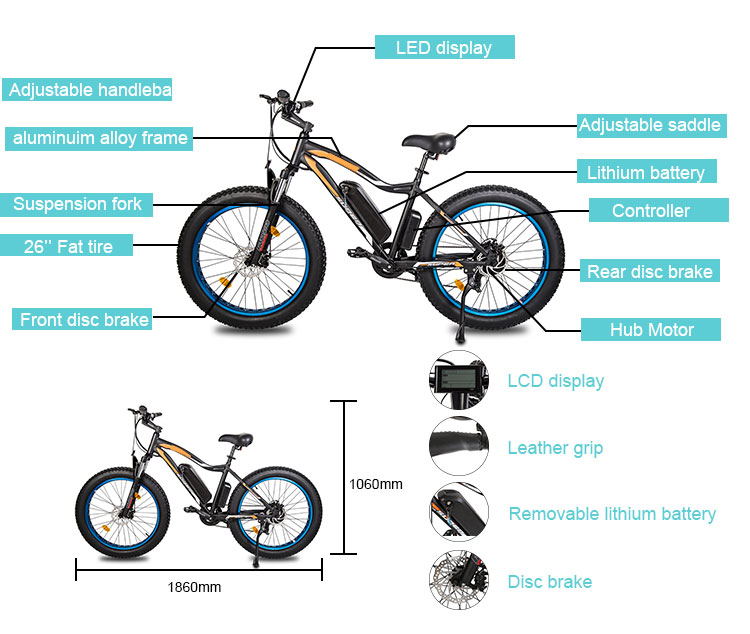 Factory direct sale ROCKET offroad super performance pedal assist ebike for man