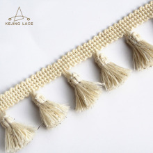 Custom Textile Accessories Cotton/Polyester Tassel Fringe Trim