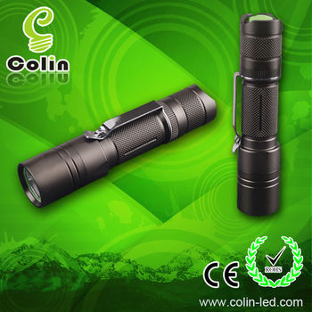 Gift promotion high power 250lm CREE T6 Police torche LED Flashlight 18650 Rechargeable Lithium battery /2XCR123A